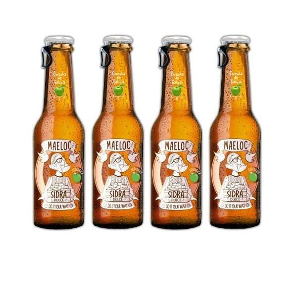 Organic Sweet Cider Maeloc Pack 4 Btll Of 20 Cl Galicia