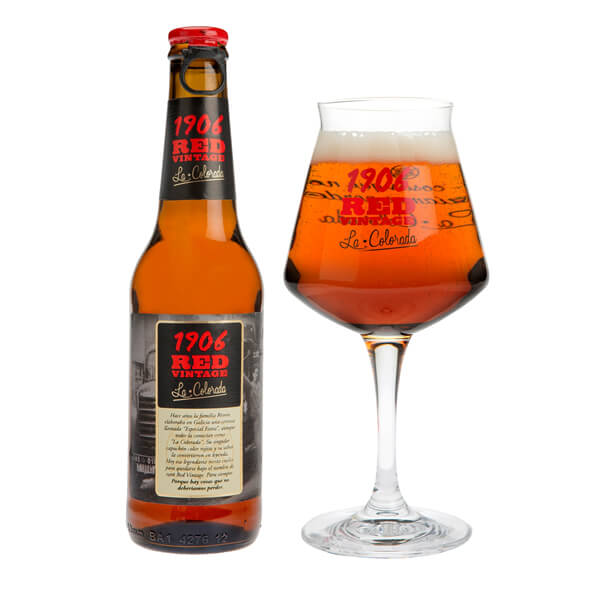 Beer Estrella Galicia 1906 Red Vintage. Pack de 6 Btlls of 33 Cl