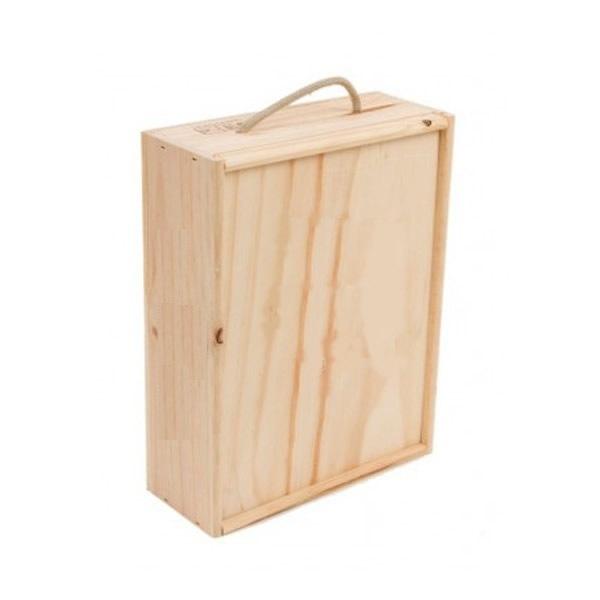 Wooden box 4 bottles galicia terra for Cajas de madera aki